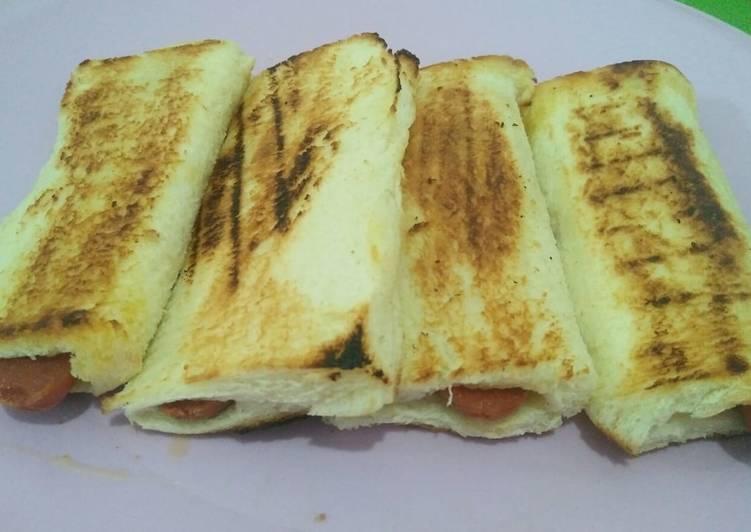 Roti bakar mozarella