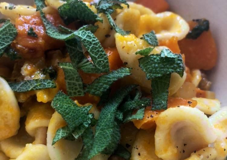 Squash and sage pasta - can be vegan