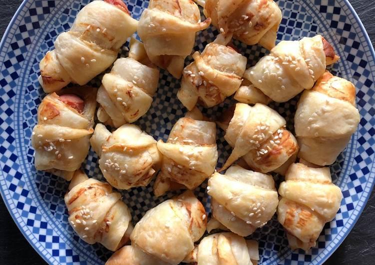 Mini croissants aux saucisses