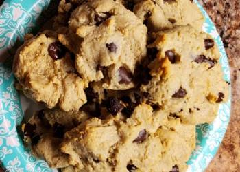 Easiest Way to Make Perfect SF Gluten Free Vegatarian Cashew flour Choc Chip cookies