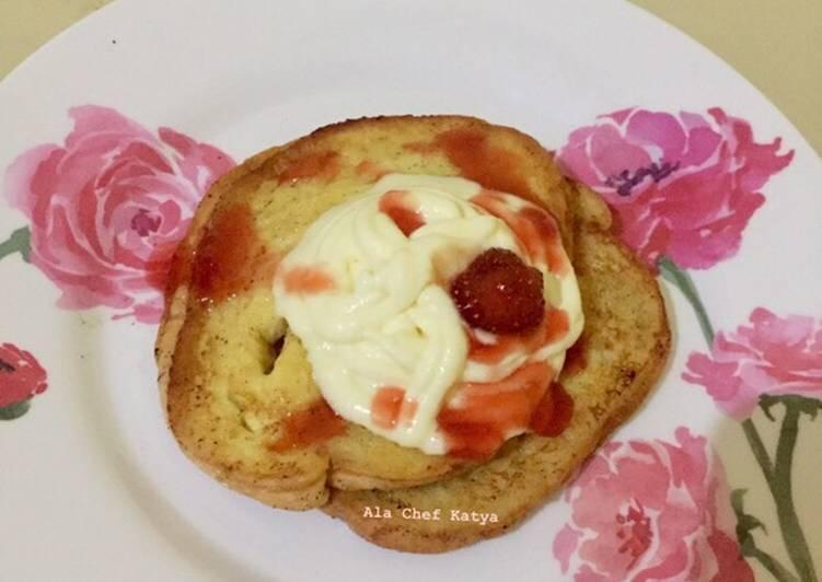 Resep French Toast Ala Nagita Slavina With Tatua Mascarpone Oleh Ala Chef Katya Cookpad