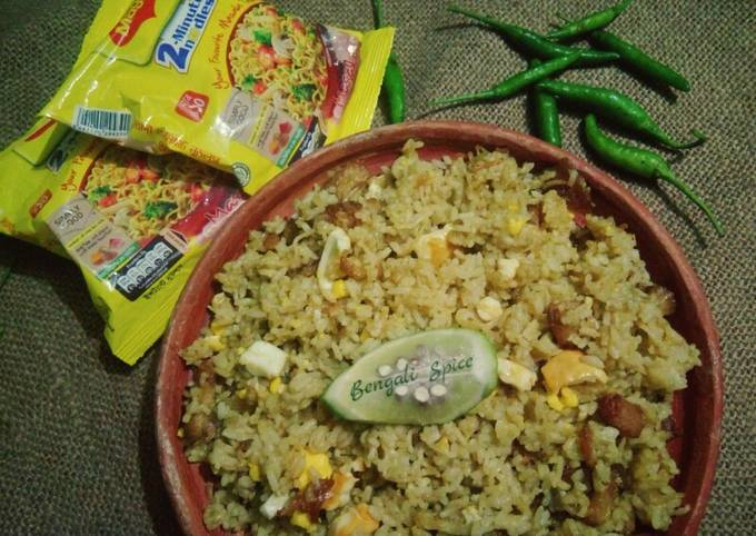 Maggi Spicy mixed Fried Rice 🍚