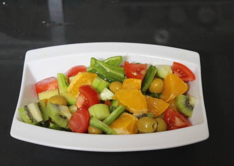 Ensalada de naranja y kiwi