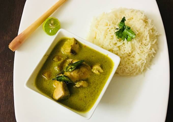 Recipe: Perfect Chicken Thai green curry