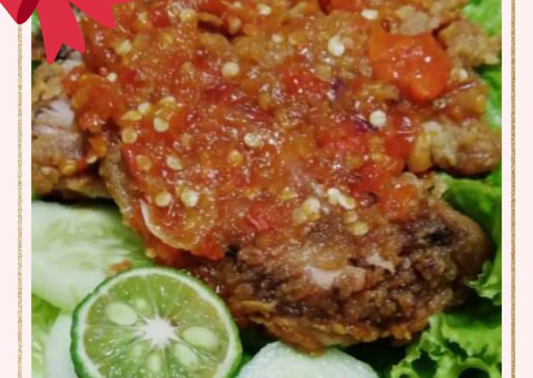 Ayam Geprek jeruk limau pedas