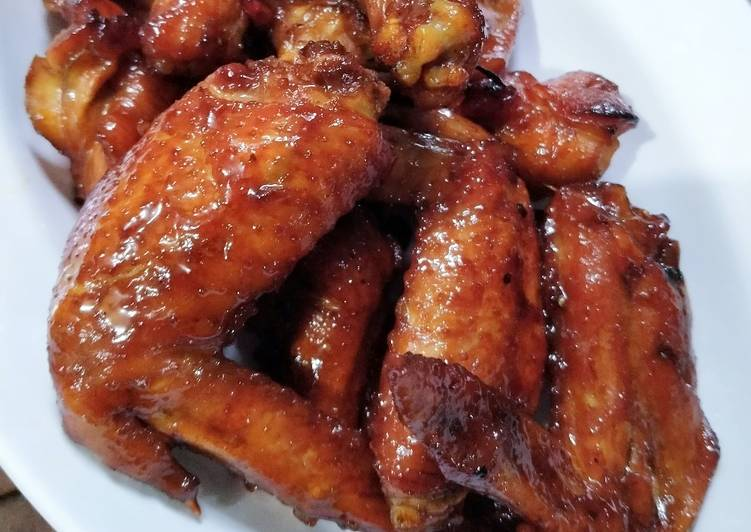 Resep Chiken wings oven kecap madu ala ala tanpa marinate, Lezat