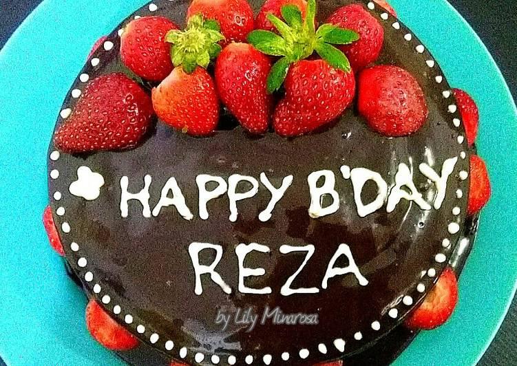 Resep Steam Chocolate cake super moist versi cake ultah Anti Gagal