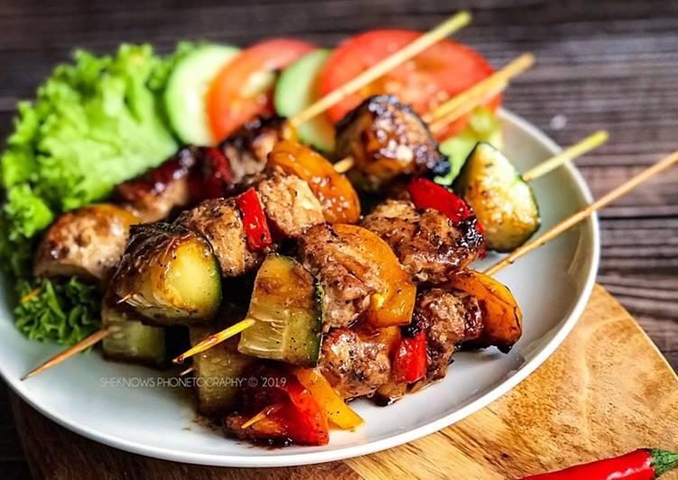 Grilled Chicken Skewer #munahmasak - velavinkabakery.com