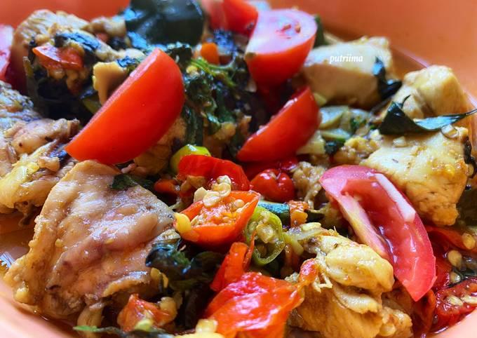 Ayam woku (bumbu iris)