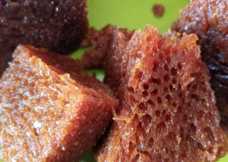 cara buat Bolu Karamel(Bolu Sarang Semut) - Sajian Dapur Bunda