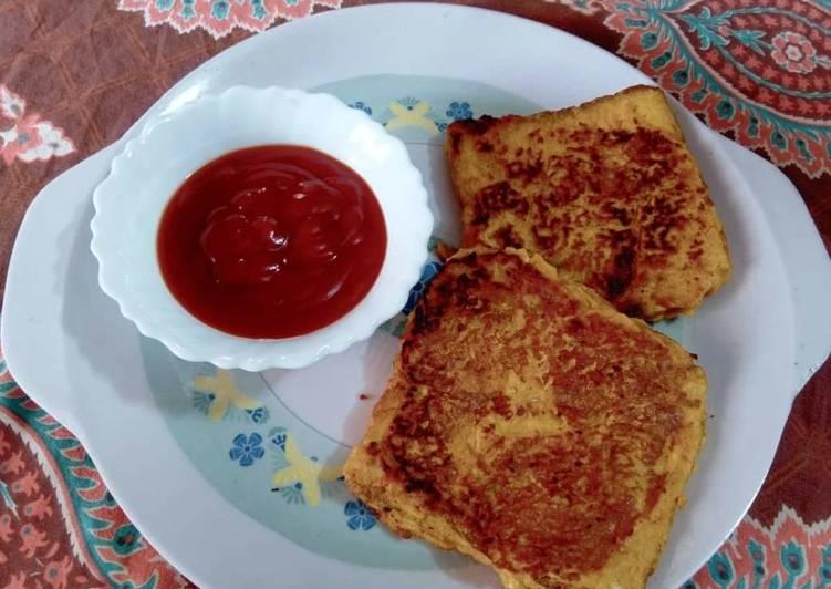 Veggie Bread Omelette