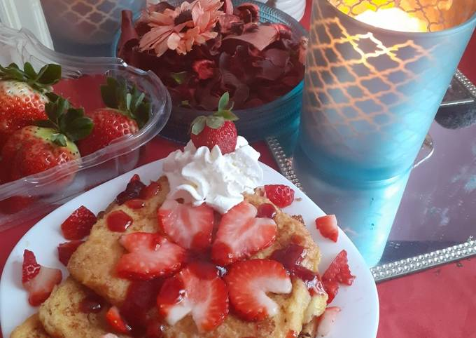 French toast ❤ Valentine breakfast