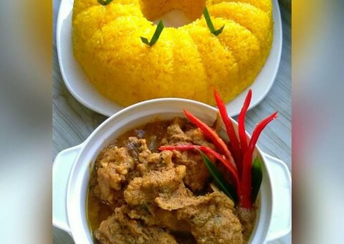 Pulut Kuning & Rendang Ayam