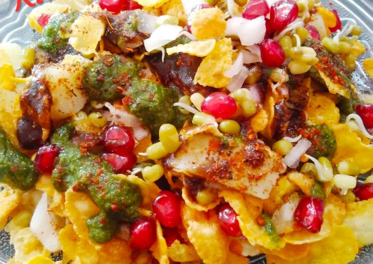 Recipe of Super Quick Homemade Corn Flakes Chat