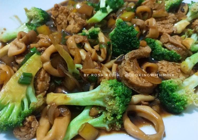 Cumi Tofu Saus Tiram