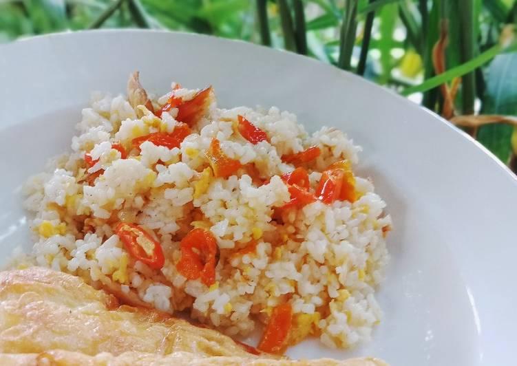 Nasi Goreng Spesial with Fishroll