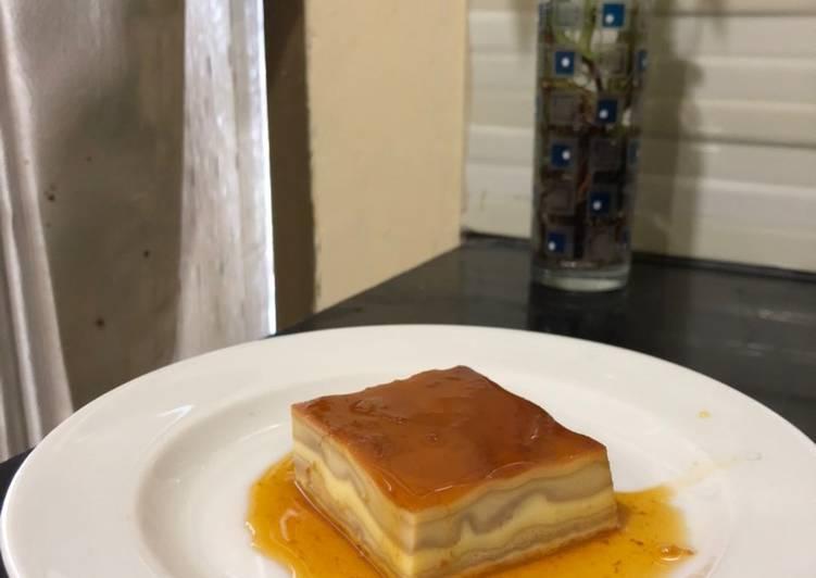 Puding Custard Caramel Lapis