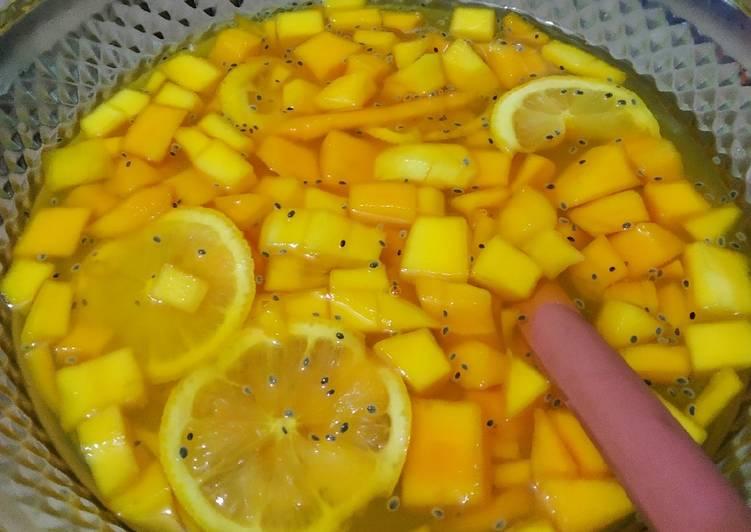 Lemon squash tanpa soda