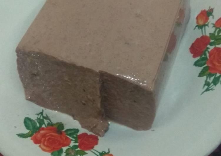Puding coklat full susu alaa @dapursempit