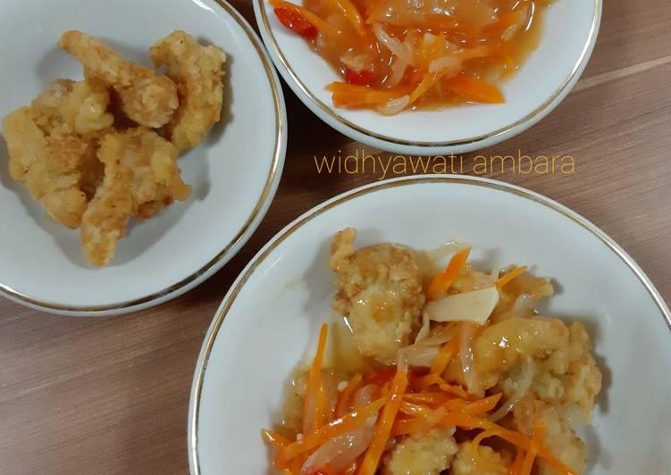 Ayam Kuluyuk (Ayam Tepung Saus Asam Manis)
