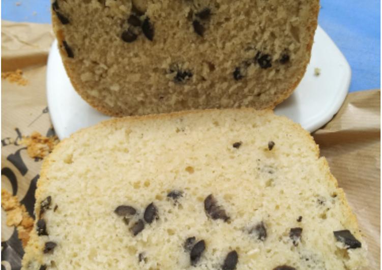 Pan rápido con aceitunas panificadora moulinex pain dore