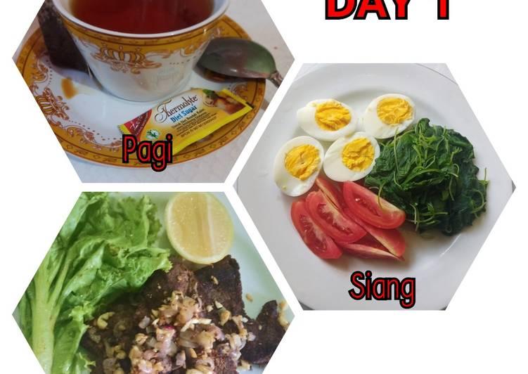 Cara mudah membuat Diet Mayo Day 1