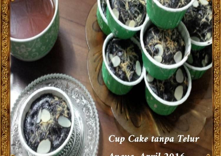 Cup Cake Coklat, yang nyoklat banget dan tanpa telur- Anti Gagal