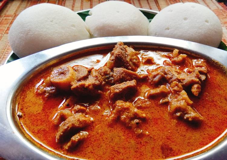 Recipe of Homemade Chettinad spicy mutton curry