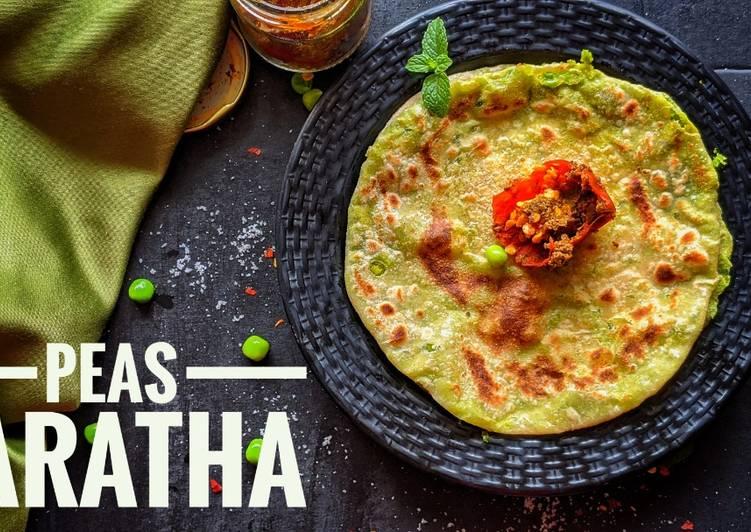 Recipe of Quick Peas paratha