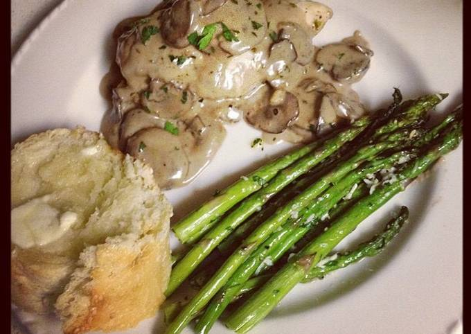 Julia Child's Chicken Breasts with Mushroom and White Wine Sauce