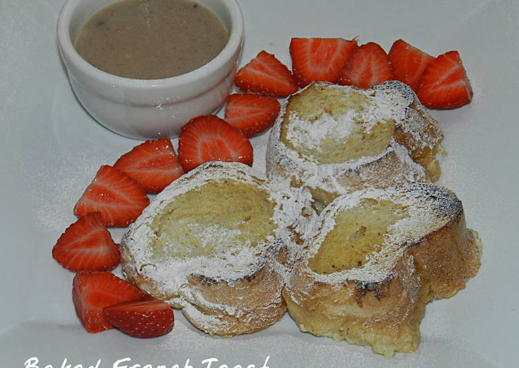 Baked French Toast with Cinnamon Sauce