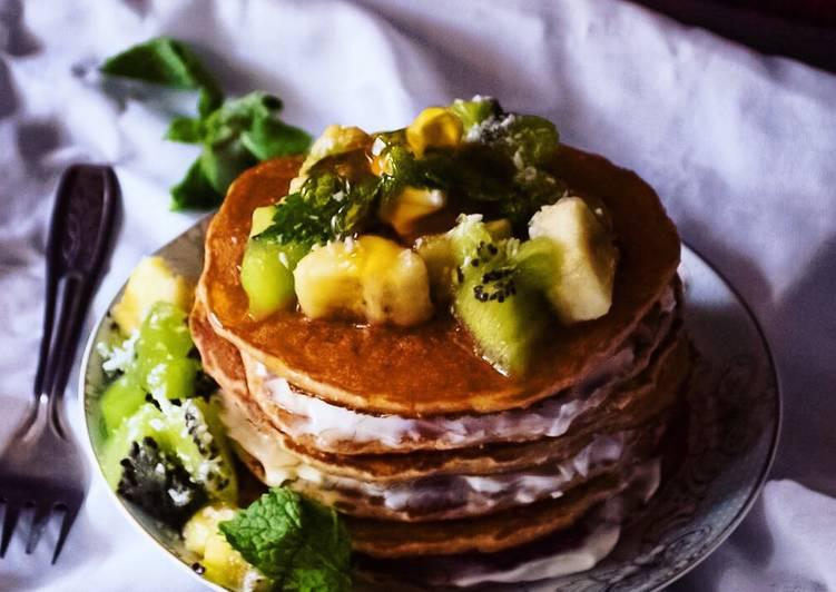 Oatmeal-egg white Protein pancakes
