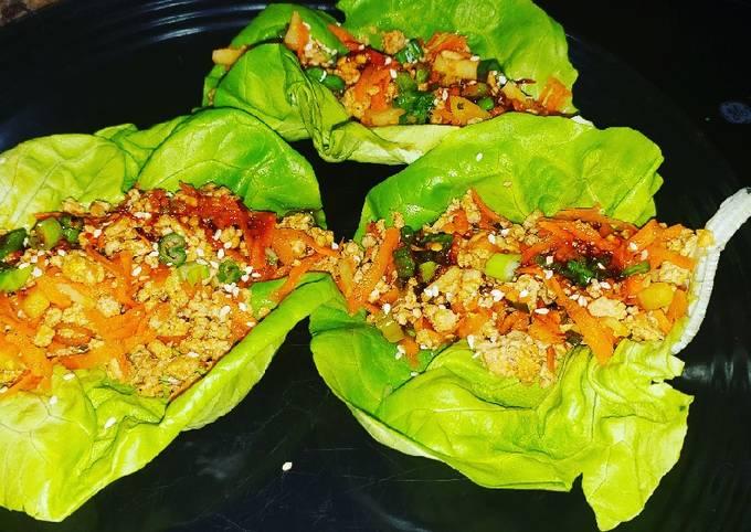 How to Make Homemade Thai turkey lettuce wraps