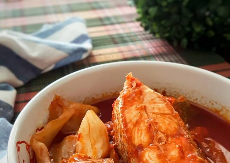 Asam Pedas Ikan Merah Jeruk Kobis