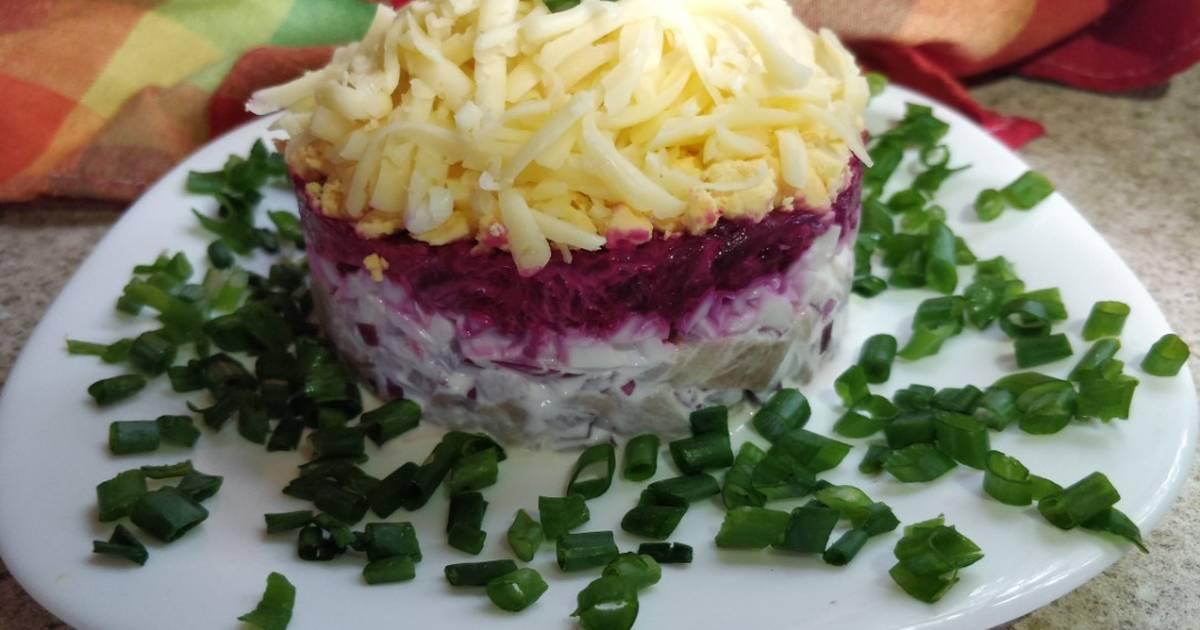 Салат из селедки рецепт с фото пошагово