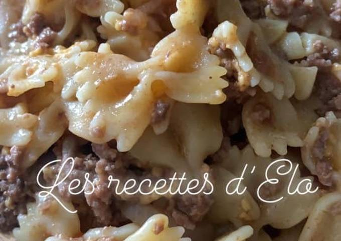 One pot pasta au bœuf et cheddar au Cookeo