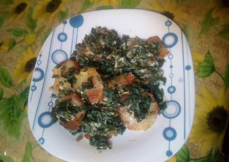 Recette: Appétissant Omelette aux épinards et pomme de terre