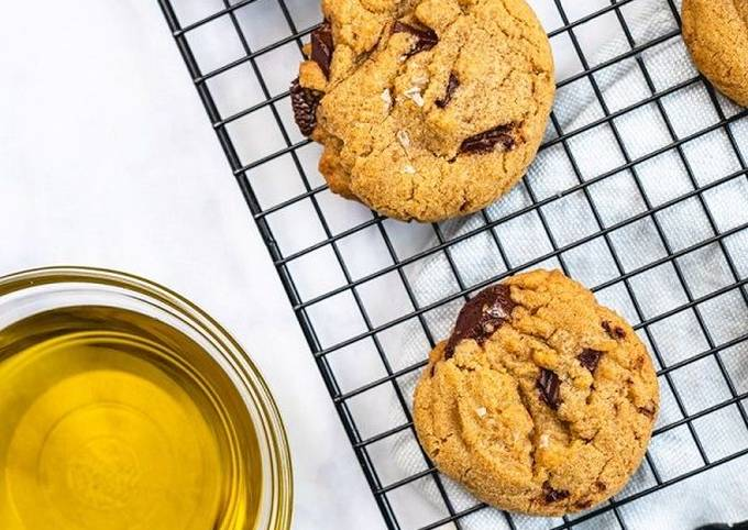 Recipe: Delicious Chocolate Chunk Olive Oil Cookies