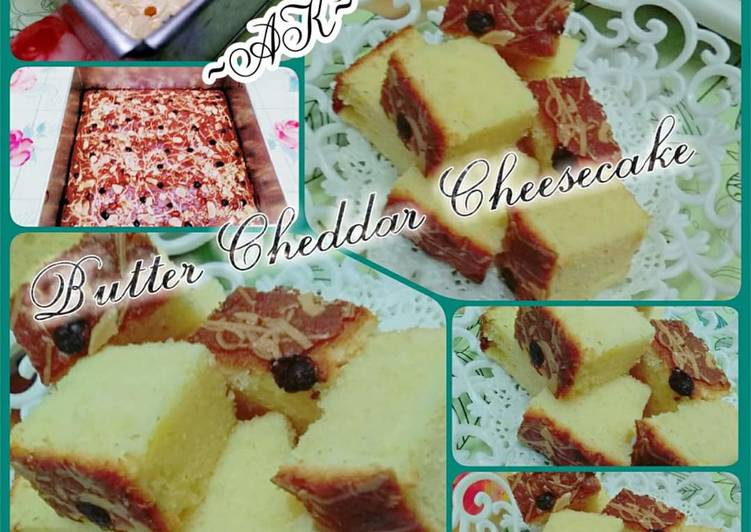 Butter cheddar cheesecake