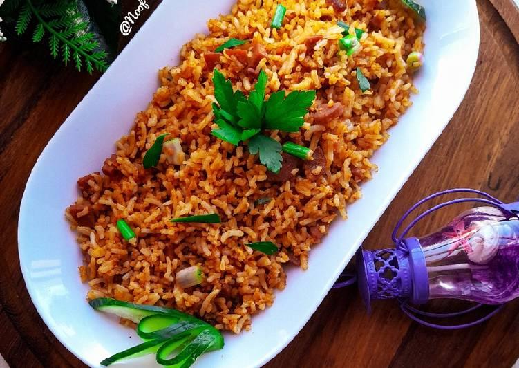 Anda Tawa Pulao (Nasi goreng telur ala India)
