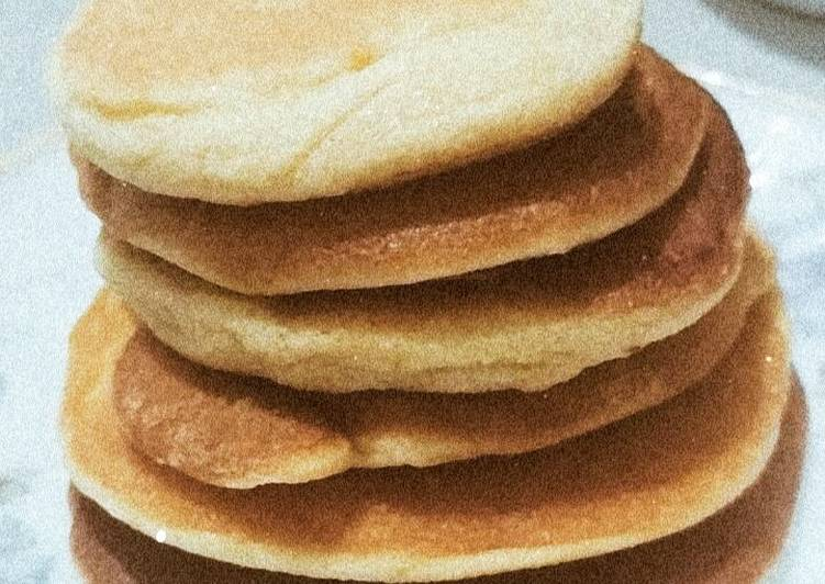 –3. Simple Pancake 4 Bahan Tanpa Baking Powder