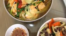 Hình ảnh món Đậu trần chấm súp mì tôm quất ớt