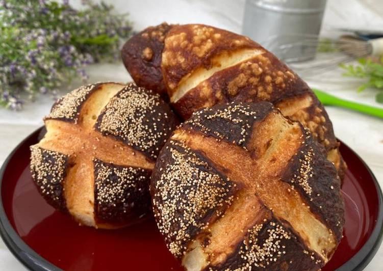 Resep Pretzel Buns Laugen Rolls Oleh Phie Kitchen Cookpad