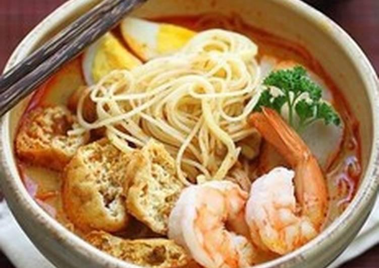 The Best Laksa Noodle Soup 😍🌶🍋🍝🍤🍜
