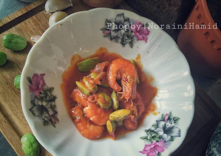 Udang sambal petai Monna