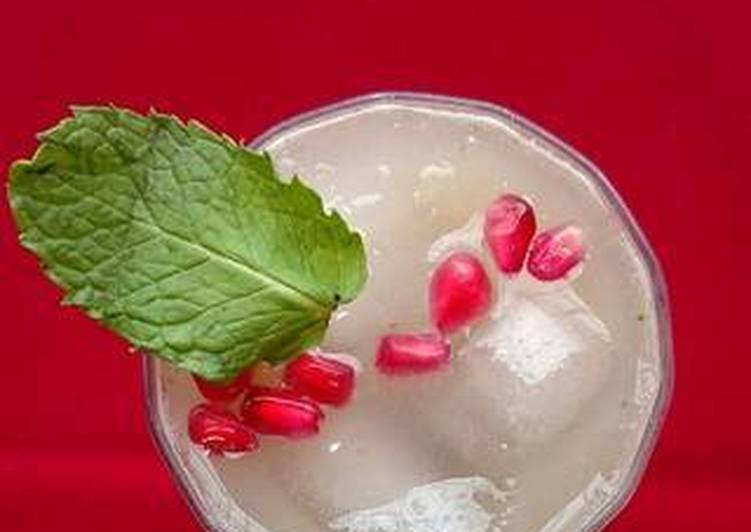 Simple Way to Make Homemade Cucumber pomegranate punch