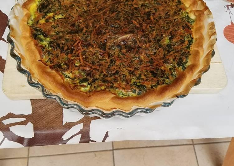 La Délicieuse Recette du Tarte oignons epinard