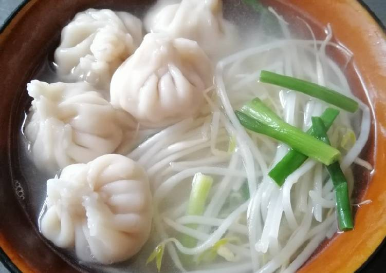 Recipe: Tasty Shrimp Dumpling with Soup