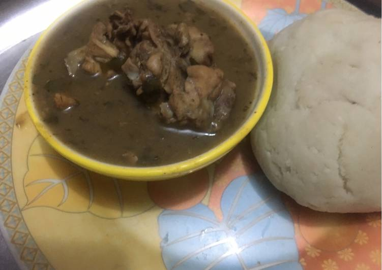 15 Minute Easiest Way to Make Refreshing Oil free Pepper soup and pounded yam
