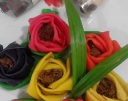 Dadar gulung mawar & dadar gulung motif